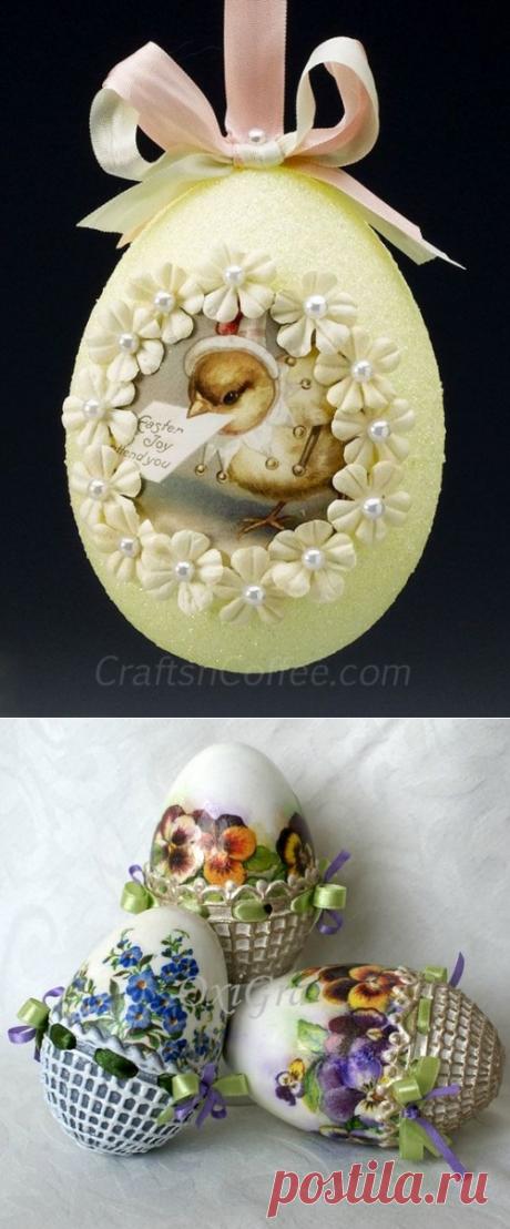 Декупаж пасхальных яиц - Домашний hand-made
