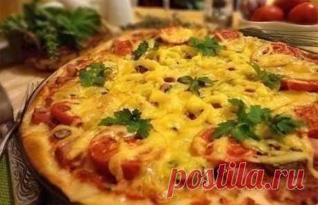 Тонкая итальянская пицца