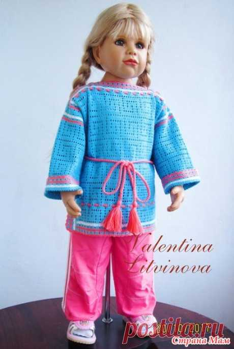 . A tunic for the girl in ethnostyle - Knitting - the Country of Mothers