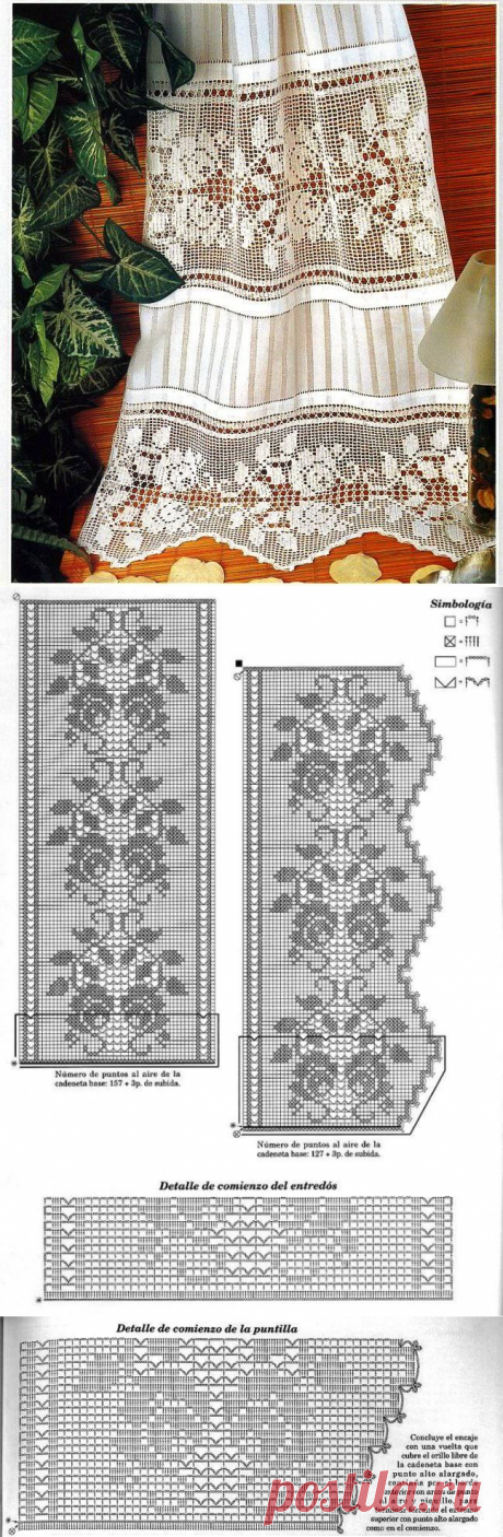 Юбка: сочетание ткани и филейного узора