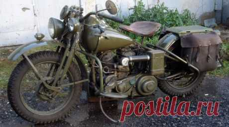 Harley Davidson WLA 1944 год