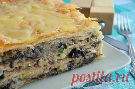 Как испечь пирог с картофельно-грибным кремом!.