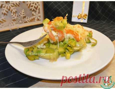 Креветки с авокадо под сырной шубкой – кулинарный рецепт