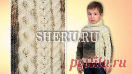 Детский свитер для мальчика - Схема с описанием свитера №337