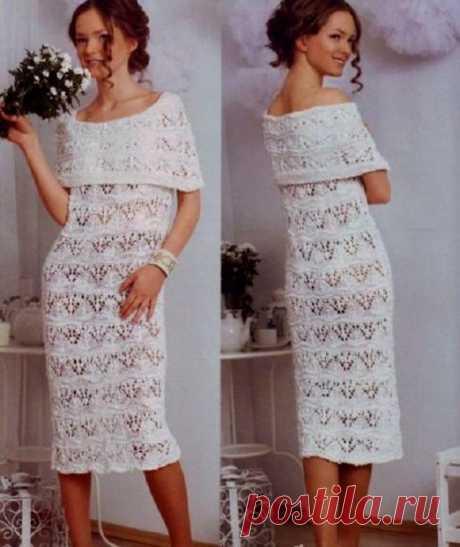 Вязаные летние платья со схемами, описанием и видео мк - 16 моделей