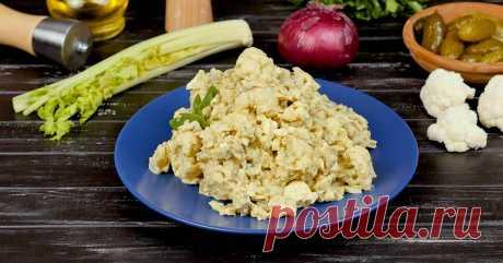 Как приготовить салат из цветной капусты с яйцами | Со Вкусом