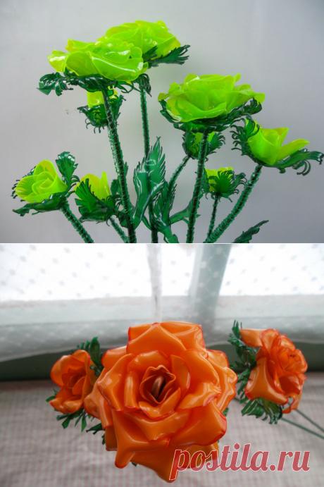 Роза из пластиковой бутылки. Мастер класс.Наш мир - аллея молодая роз,Хор соловьев, прозрачный рой стрекоз. А осенью? Безмолвие и звезды... И так,порой,хочется возратить красоту величественной розы. Розы из пластиковых бутылок подарят яркости и настроения вашему приусадебному участку.