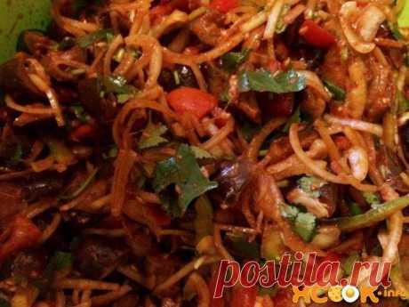 Хе из баклажанов, или Кади Хе – рецепт с фото салата по-корейски