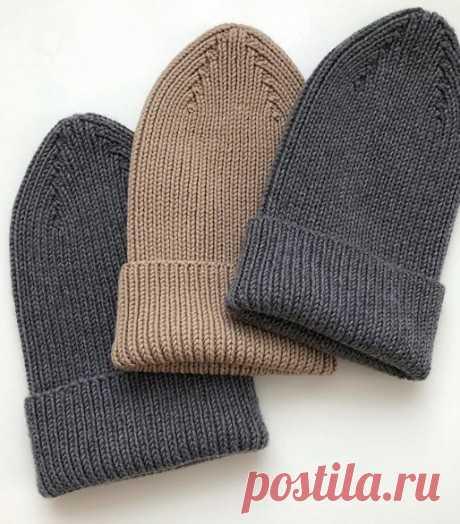 Описание шапки связанной спицами с острой макушкой, Вязание для женщин