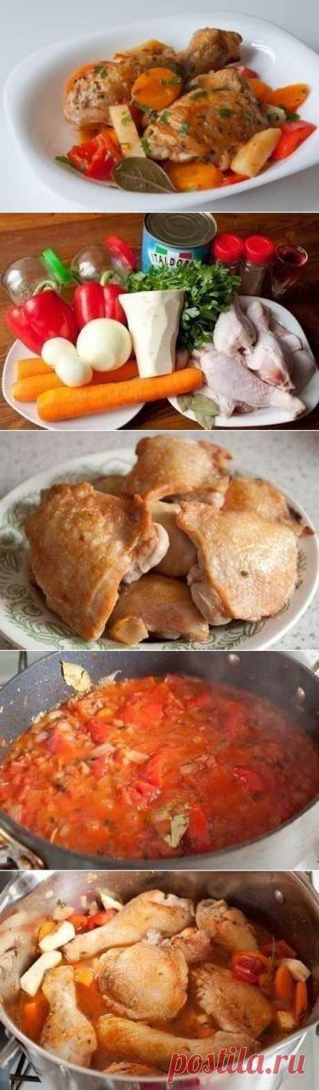Как приготовить фрикасе из курицы по-креольски - рецепт, ингридиенты и фотографии