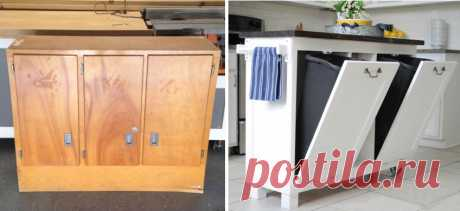 NEVER throw out old furniture! The TOP of 30 CREATIVE ALTERATIONS of OLD FURNITURE the New selection of creative alterations of old furniture in new. Oh, as I liked point 23! And in item 29 I already know that I will use as the basis...\u000d\u000a1. An old case - the kitchen island\u000d\u000a\u000d\u000a\u000d\u000a\u000d\u000a\u000d\u000a\u000d\u000a2. A dresser in a banquette\u000d\u000a\u000d\u000a\u000d\u000a3. An old door in a bed headboard\u000d\u000a\u000d\u000a\u000d\u000a\u000d\u000a4. A box in a stool for legs