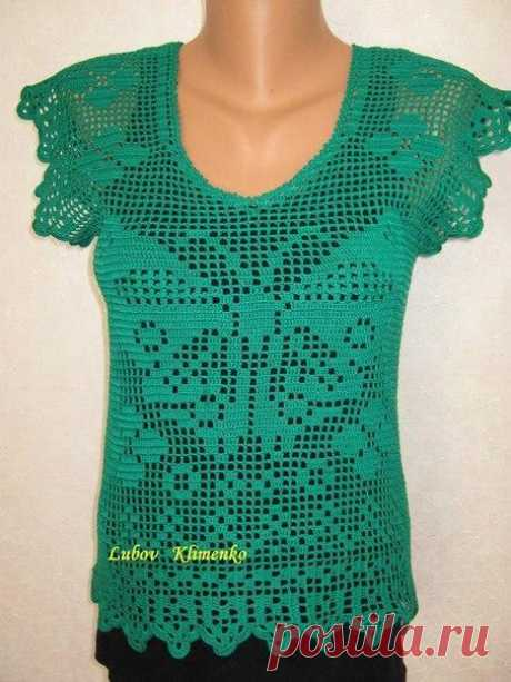 Top fillet knitting (Knitting by a hook)   Inspiration of the Needlewoman Magazine