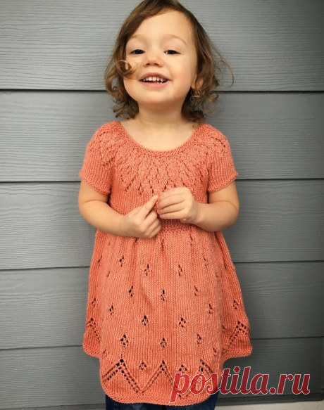 Knitting of a dress for the girl | the STAY-AT-HOME