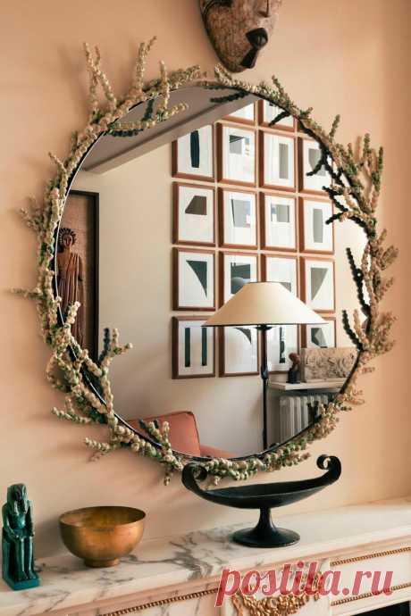 Терракотовый интерьер маленькой квартиры в Париже, наполненный искусством | Architect Guide | Яндекс Дзен