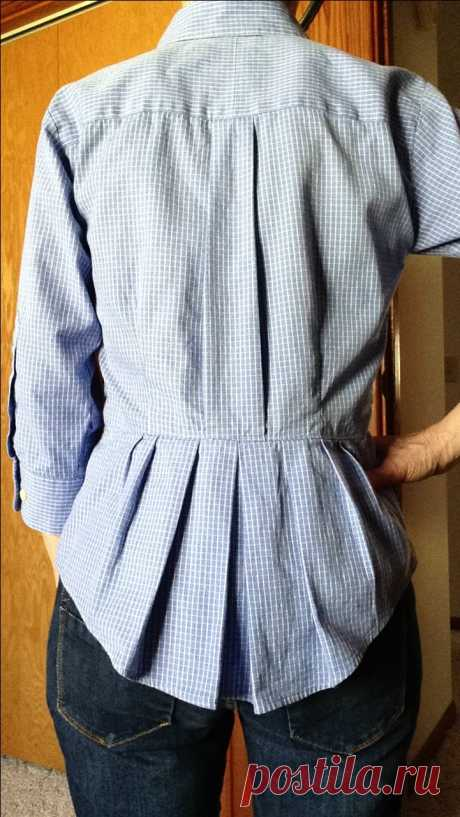 Переделки: Оригинальные блузки из рубашек — Делаем руками