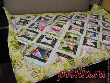 Шьем лоскутное одеяло из диагональных полос — Рукоделие