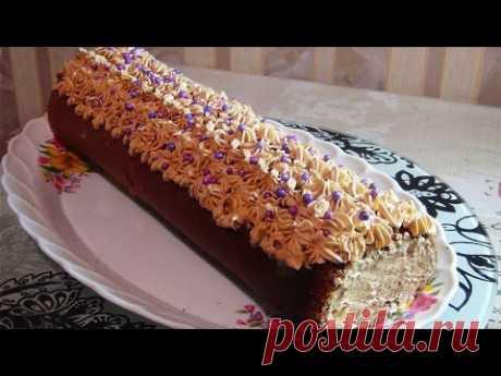 Шоколадный рулет к празднику.......Chocolate roll - YouTube