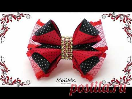 Bow from a repp tape of Kanzasha of MK DIY Hair Bow tutorial of MOYMK