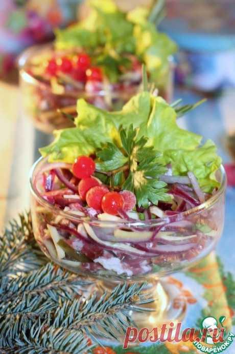 Салат «Премиум» с копченой колбасой - кулинарный рецепт