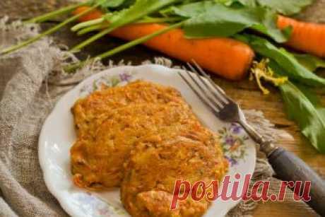 Биточки творожные с морковью