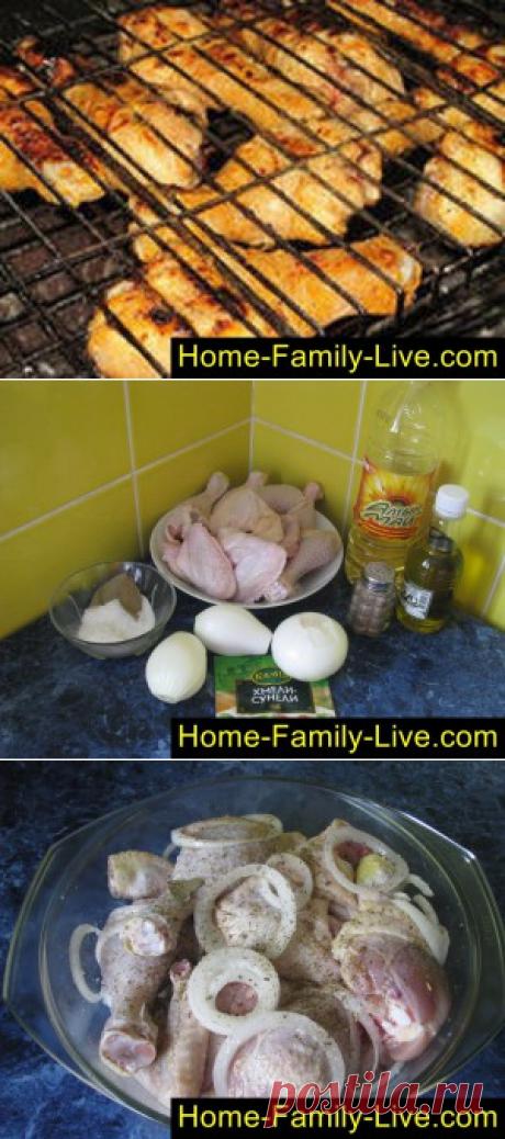 Шашлык из курицы/Сайт с пошаговыми рецептами с фото для тех кто любит готовить
