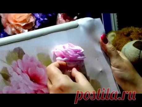 "МК ""Роза из лент""/""Embroidery ribbons"""