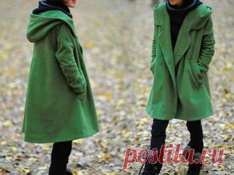 Grass green Wool Coat Women's winter Coat Hooded midi   Etsy