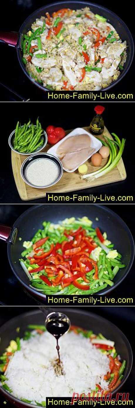 Рис с курицей и овощами - пошаговый фоторецепт - куриное филе с рисом овощами | Кулинарные рецепты