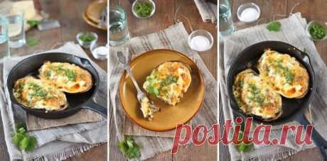 Шикарное блюдо — фаршированные баклажаны фаршем и грибами!