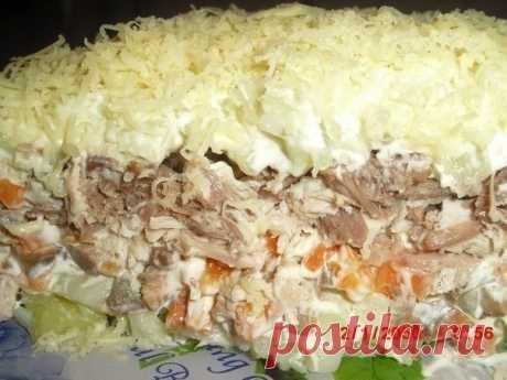 Как приготовить салат с мясом и грибами  - рецепт, ингредиенты и фотографии