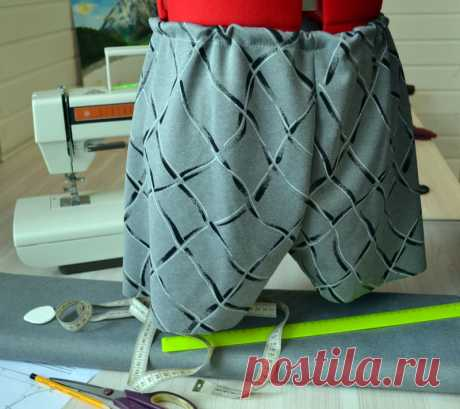 We sew man pants | the Pattern and tailoring of man boxer shorts