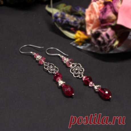 Серьги Amorella - авторские украшения с камнями Серьги с топазом купить
