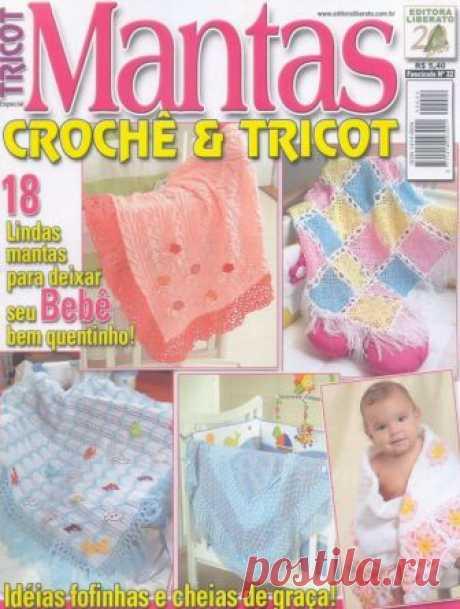 Revista TRICOT-Especial Mantas Crochê & Tricot ~ RECEITA TRICÔ FÁCIL
