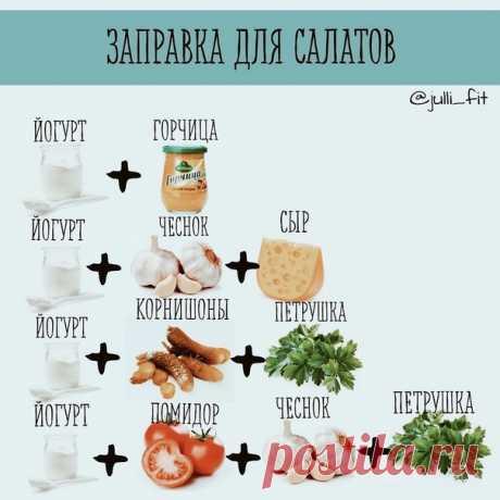 Подборка вкуснейших правильных соусов   1. Сметана 4 ст л, оливковое масло 2 ст л, горчица 0,5 ч л, соль, перец, лимонный сок.  2. Сок лимона 2 ст л, горчица 1 ч/л, соль смешать и взбить венчиком. Далее тонкой струйкой влить 6 ст л оливкового масла.  3. Натуральный йогурт, зелень, авокадо, соль, перец, чеснок, оливковое масло, сок лимона.  4. Натуральный йогурт, огурец, чеснок, зелень, соль, перец, масло оливковое.  5. Сметана, сыр, огурец, чеснок, соль, перец.  6. Натурал...