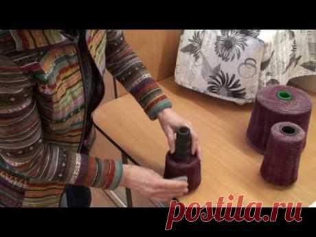 Workplace behind the knitting car. Parafinirovaniye of a yarn. Uniform giving of a thread.