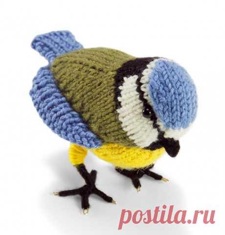 Вязанная спицами игрушка птичка – синичка, Вязаные игрушки