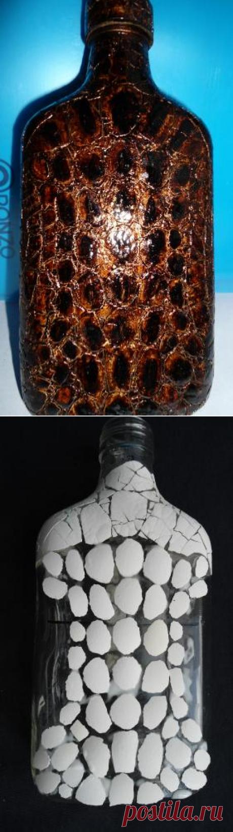 Имитация кожи рептилии при помощи яичной скорлупы