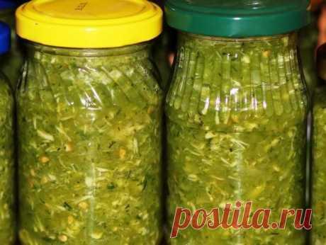 ¡En otoño prepararé obligatoriamente la porción doble - el Gritón de los tomates verdes En invierno a cual más!
