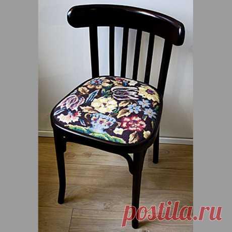Реставрация стула с мягким сиденьем — мастер класс