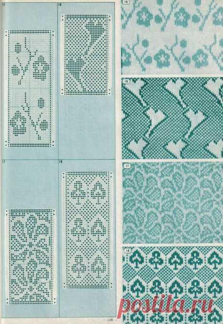 Книга :Pattern Library for Punch Card Knitters №1 1973.ЧАСТЬ 1.