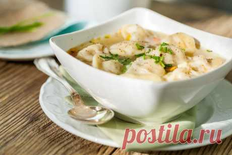 Суп с пельменями   Ингредиенты:   Вода – 1,5 литра  Показать полностью…