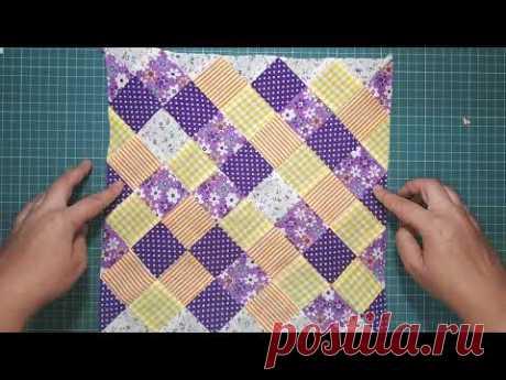 Пэчворк для начинающих.2 быстрых способа сшить одеяло из блока Бабушкин квадрат. Часть 1