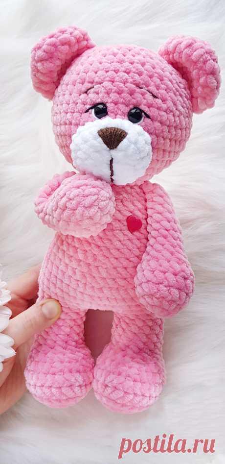 PDF Мишутка крючком. FREE crochet pattern; Аmigurumi doll patterns. Амигуруми схемы и описания на русском. Вязаные игрушки и поделки своими руками #amimore - плюшевый медведь, медвежонок, мишка из плюшевой пряжи.