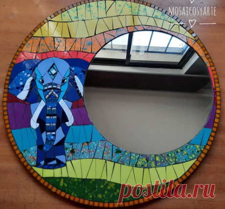 💖🐘 Мозаичное зеркало