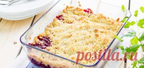 """Быстрый десерт - крамбл из замороженных ягод - рецепт с фото - FoodForLife Быстрый десерт - крамбл из замороженных ягод, рецепт приготовления с простой пошаговой инструкцией и фото. Кулинарный блог """"FoodForLife""""."""