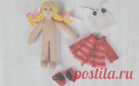 Маша и ее одежда - вязаные игрушки - своими руками.