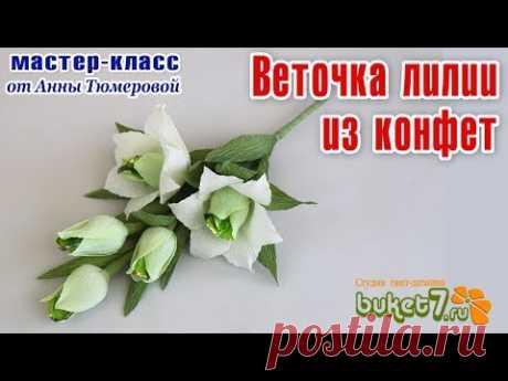 Anna Tyumerova. A lily branch from candies.