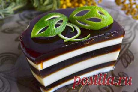 Кофейный десерт «Полосатик» - вкусное чудо