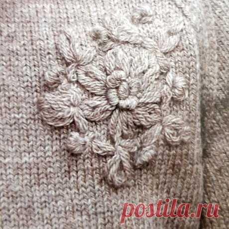 Вышивка по вязаному полотну | Вязание-блог | Яндекс Дзен