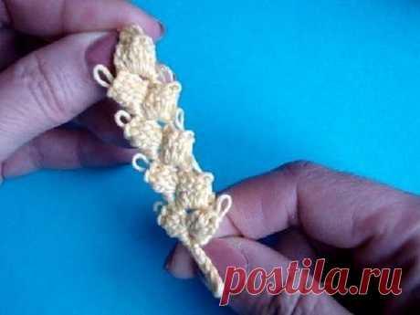 Как вязать колосок Урок 299  How to crochet spica